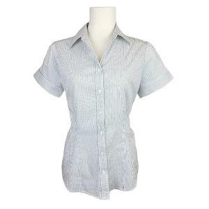 4/$30 Jacob Pinstripe Short Sleeve Button Down
